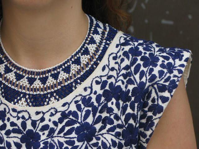 personal style, fashion, fashion blog, vintage, blue, mexican embroidery