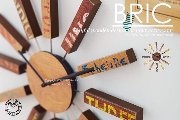 【 インターフォルム 】BRIC [ブリック]■壁掛け時計 :INTERFORM