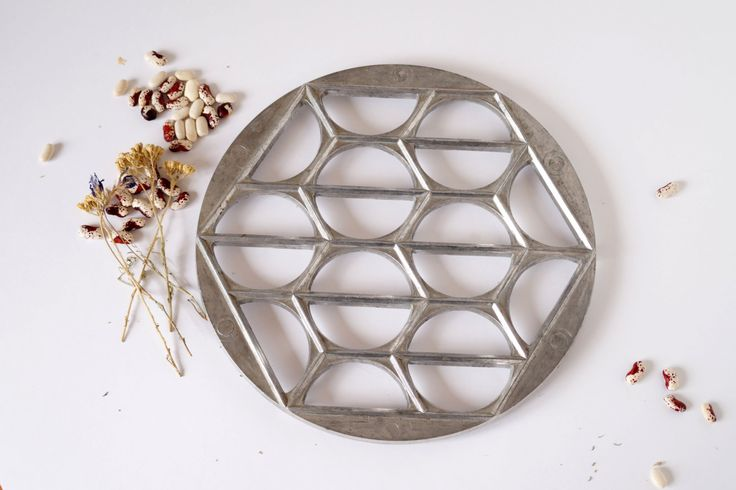 Pierogi mold Dumplings form maker Vintage Dough mold Cookware Rustic kitchen decor by Retronom on Etsy