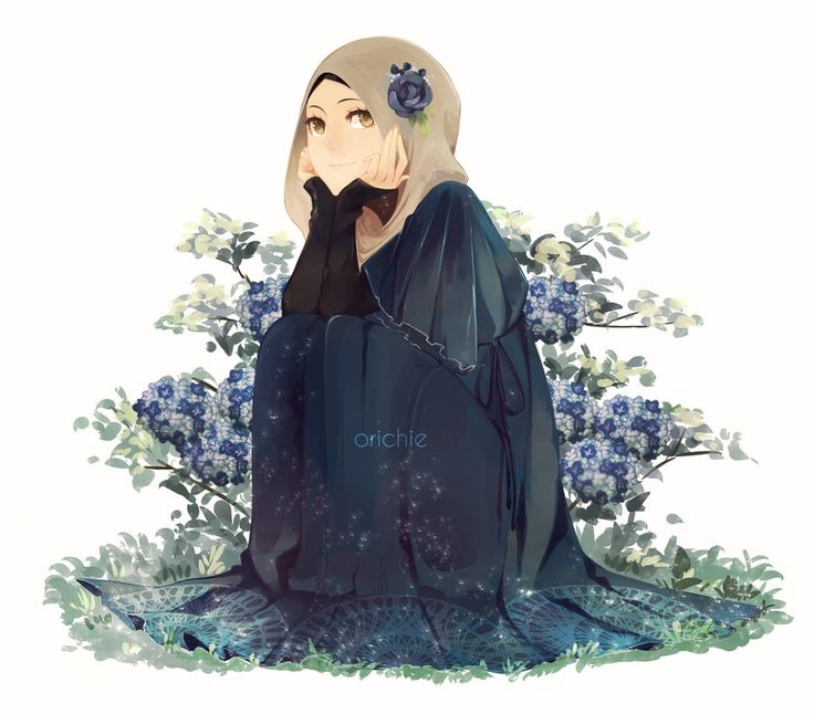 Hijab girl with a Blue Dress... by orichie on deviantART