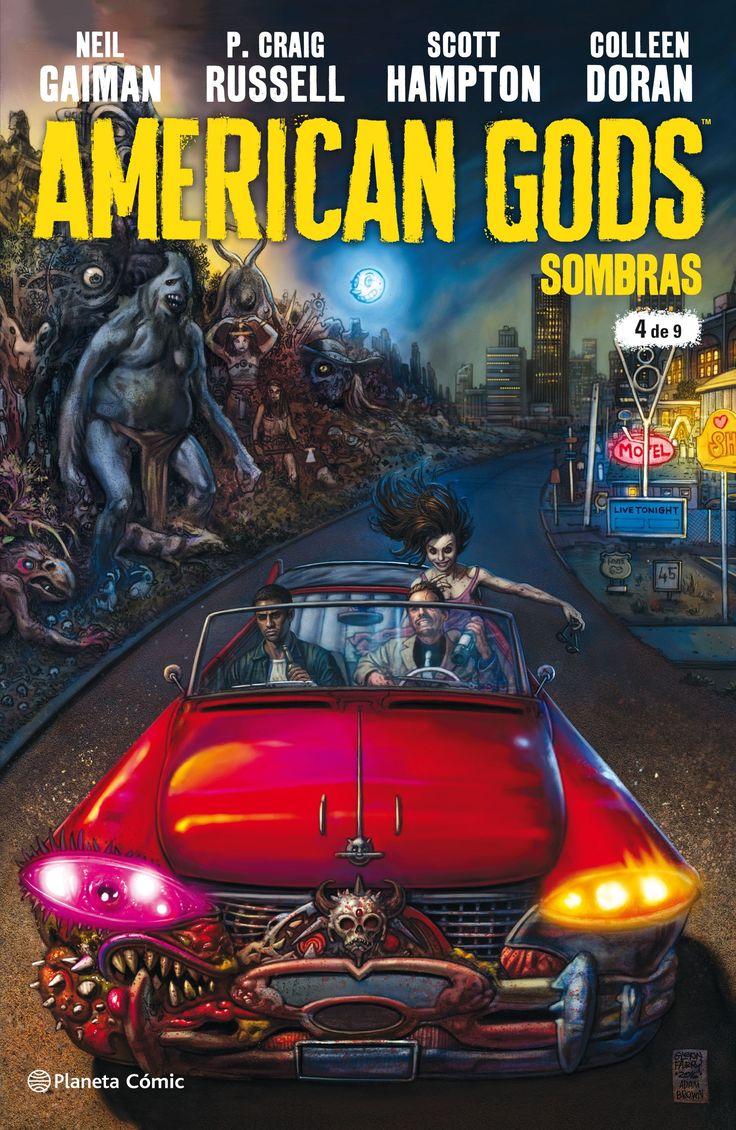 American Gods Sombras nº 04/09      Neil Gaiman Número de páginas: 32      Fecha de publicación: 06/03/2018 | Idioma: Español | ISBN: 978-84-9146-762-5 | Código: 10193750 | Formato: 16,8 x 25,7 cm. | Tinta: Integradas a color | Presentación: Grapa | Colección: Independientes USA | Traductor: Diego de los Santos | Sentido de lectura: Occidental | Frecuencia: Mensual      Tras un extraño encuentro con su difunta mujer, Sombra Moon se marcha de Eagle Point con ganas de dejar atrás el pasado…