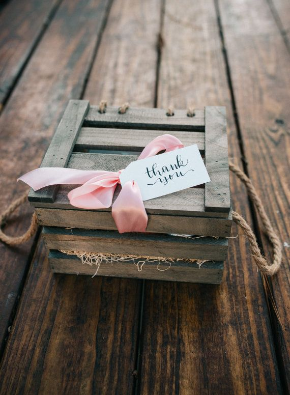 The Wedding Welcome Gift  Crate Box: Bride by SouthernGrownVintage