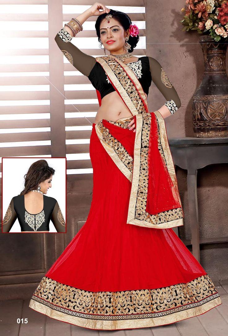 Red Silk #Circular #Lehenga #Choli #nikvik  #usa #designer #australia #canada #freeshipping #wedding