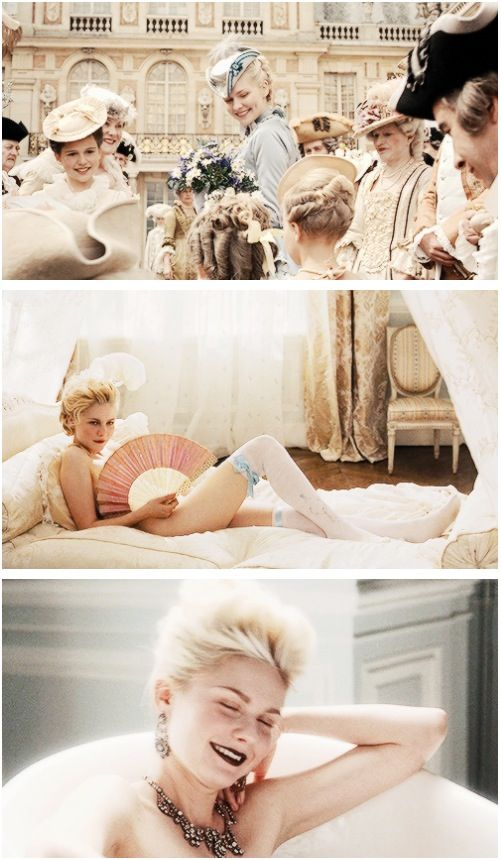Vintage Inspiration ~Kristen Dunst as Marie-Antoinette, beauty is simplicity and simplicity is grande :)
