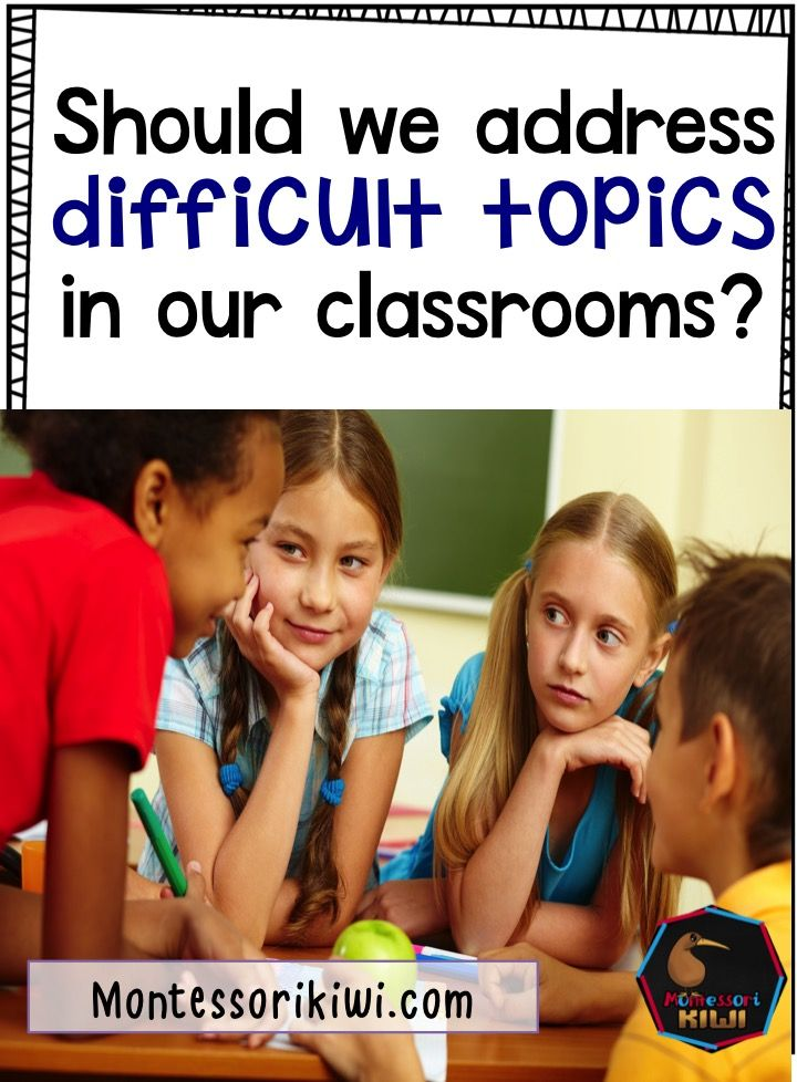 How to talk about difficult topics in Montessori classrooms