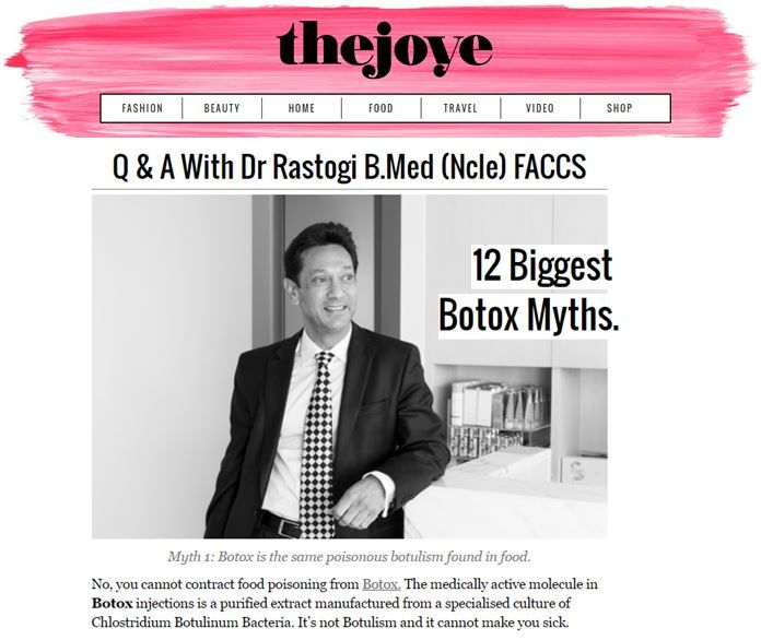 Botox and fillers - Dr Rastogi discusses and debunks the MANY myths about cosmetic injectables. If you're considering some non-surgical procedures to reduce fine lines and wrinkles in the face, contact our clinic on (02) 9362 1426