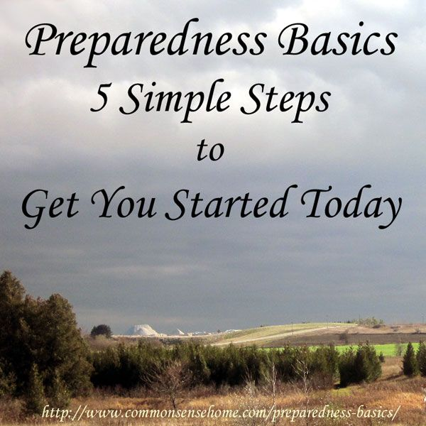 Preparedness Basics - Simple steps to be ready for stressful times. Make better decisions, have more options and possibly save yourself some...
