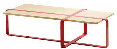 Table basse Sake / 120 x 60 cm Bois naturel / Acier rouge - RS BARCELONA - Décoration et mobilier design avec Made in Design