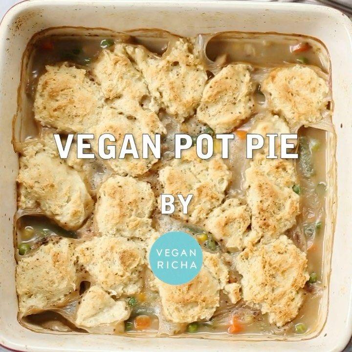 Vegan Richa By Richa Hingle On Instagram Vegan Pot Pie With Black Pepper Biscuit Topping Veggies In Savory Herb In 2020 Vegan Pot Pies Stuffed Peppers Vegan Richa