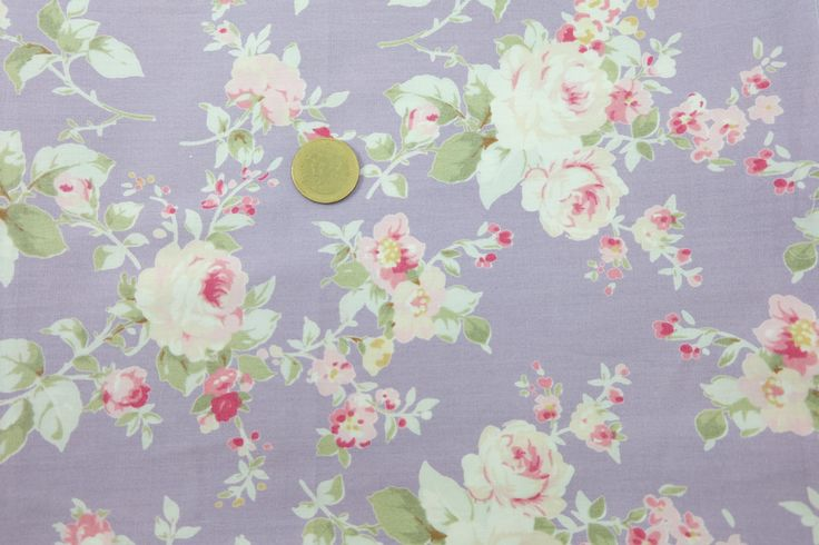 1 Metre Cotton Fabric, Rose Flower Fabric in Lupus Pernio, Case, Book Cover, Purse, Clothing Fabric by PloyjaiFabric on Etsy