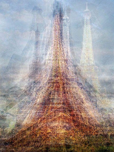 Pep Ventosa - multiple #photographs layered to create effect: Paris, Inspiration, Collective Snapshot, Eiffel Towers, Art, Photographer Pep, Pep Windy, Photography Ideas