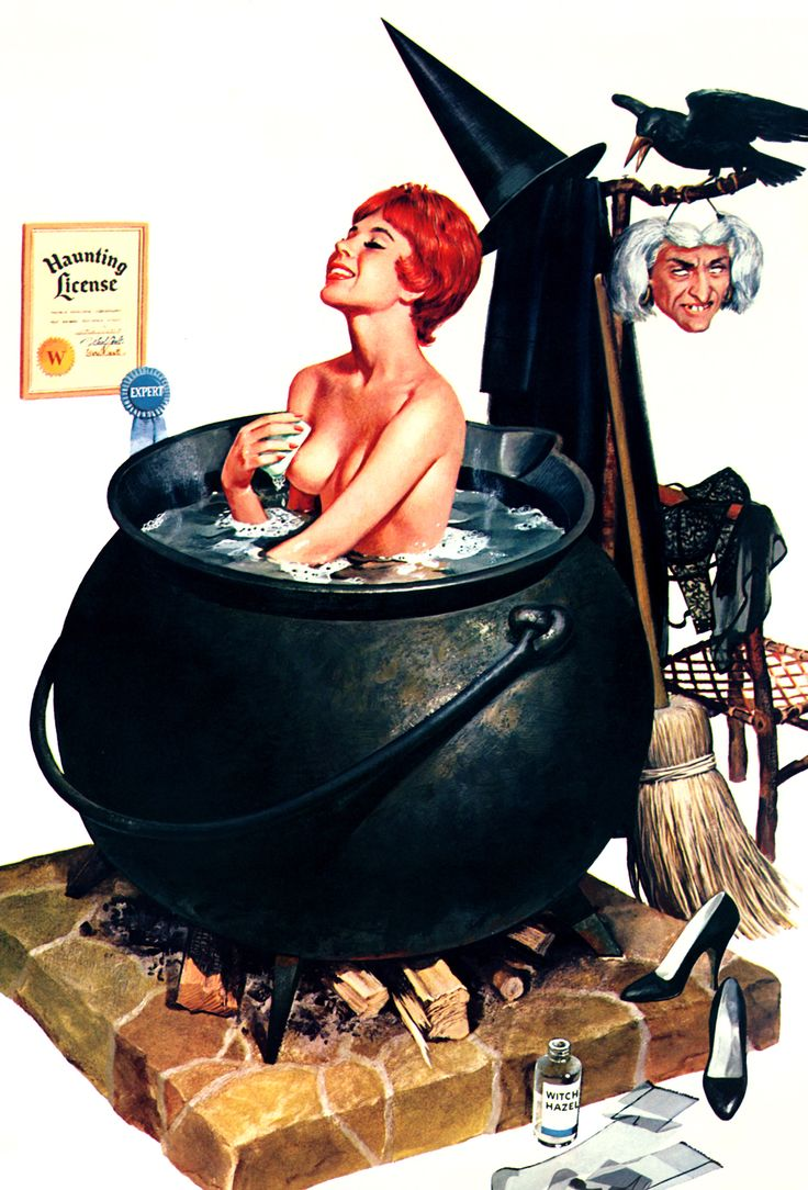 bathing witch by ren wicks, 1964