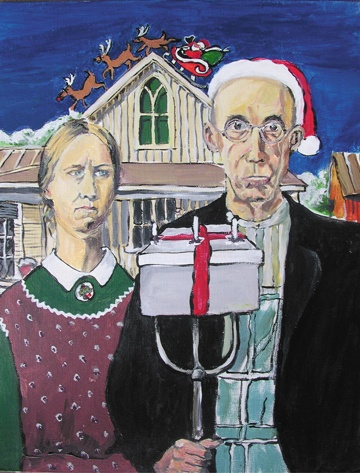 322 best images about art parodies american gothic on for Gothic painting ideas