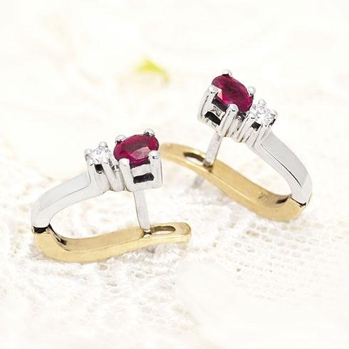 Rubies & diamonds splendid earings by Coriolan