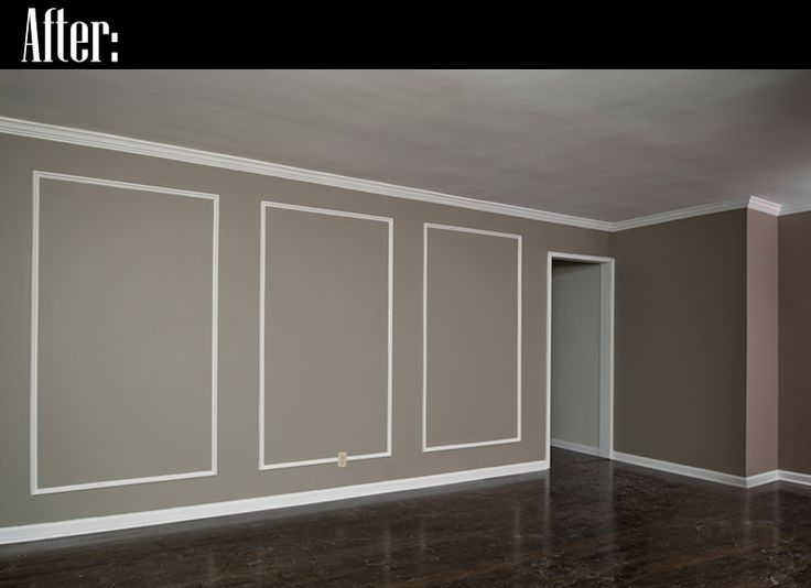 Wall Molding Ideas   ... wall on the right is the one that now has the picture frame molding
