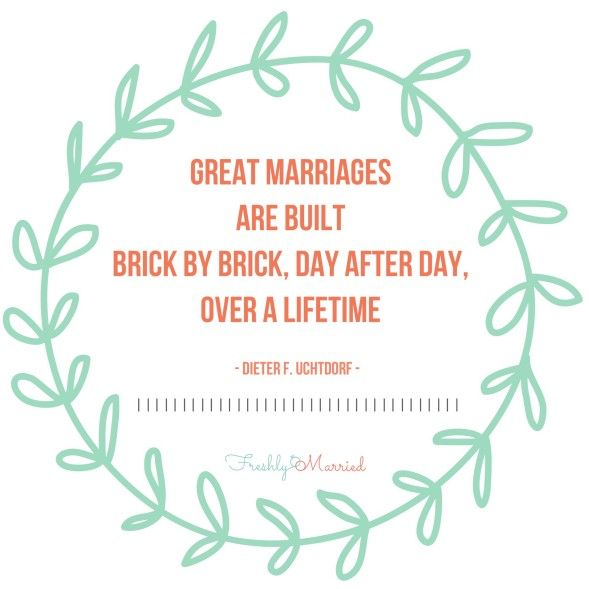 A good marriage takes time and we sometimes forget that when we compare, or we have struggles!