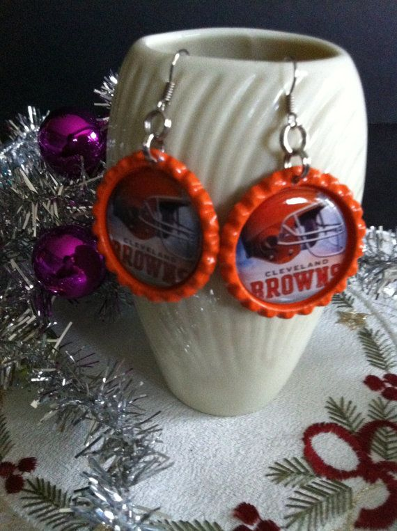 Hey, I found this really awesome Etsy listing at https://www.etsy.com/listing/207192362/cleveland-browns-inspired-earrings-made