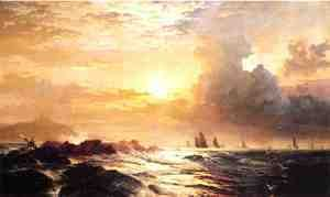 Ships at Sea  Edward Moran
