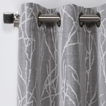 Exclusive Home Finesse Jacquard Curtain Pair