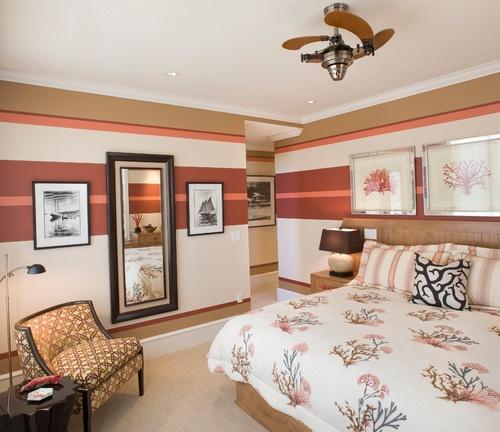#Chambre de style #transitionnel avec #ventilateur. / #Transitional #bedroom with #ceillingfan.