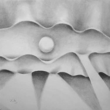 """Saatchi Art Artist Françoise Zia; Drawing, """"Mouvement étiré"""" #art"""