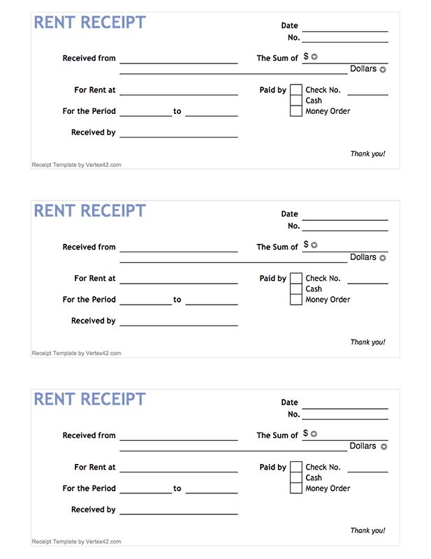 25 best ideas about Receipt Template – Rent Receipt Pdf