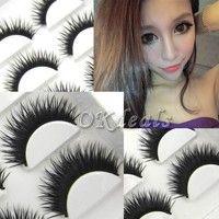 Wish | 5 Pairs Natural Long Thick False Fake Eyelashes Makeup Party Eye Lashes