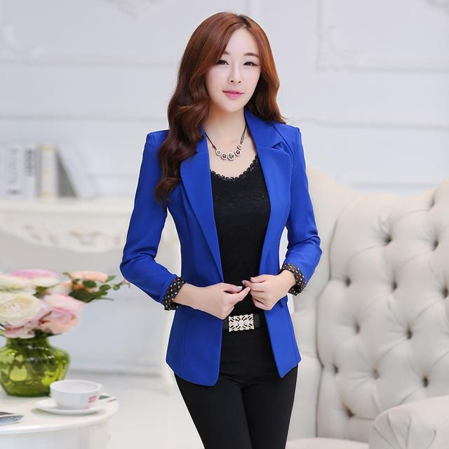 d76bd0ea8d6557 Women Blazers Candy Color Long Sleeve Female Blazer Suit Suit Jackets Coat  | Dresses Clothes | Blazers for women, Blazer, Blazer suit