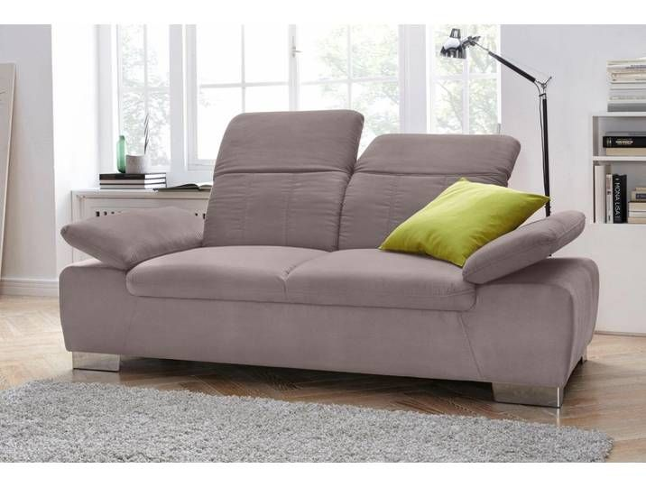 Domo Collection 2 Sitzer Sofa Braun Kunstleder Mit Ruckenverstellun Sofa Couch Furniture