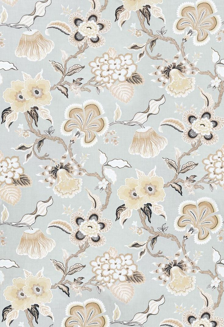 Exclusive fabrics painted chevron printed cotton curtain free - Hothouse Flowers Mineral 174030 By Schumacher Fabric Celerie Kemble Prints And Wovens Linen Fabric Carolina Schumacher