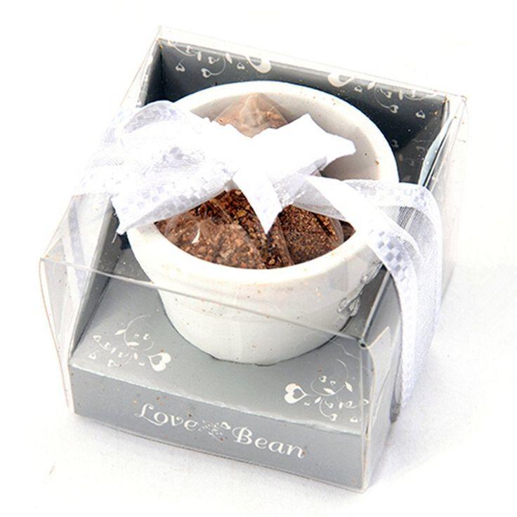 Bomboniera vasetto in ceramica con confezione seme love. BOMBONIERE PORCELLANA SEMI: Amazon.it: Casa e cucina