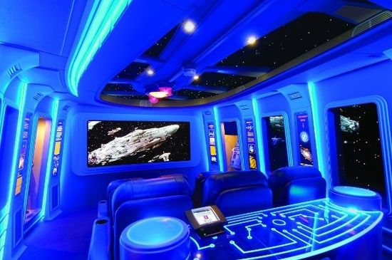 Star Wars inspired home movie theater.