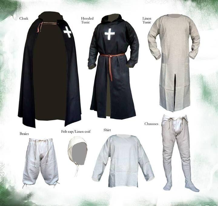Panoplia y atuendo de un caballero hospitalario (siglos XII-XIII). Dressing of a Hospitaller Knight (12-13th century)