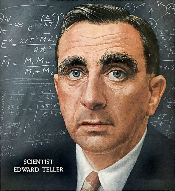 Edward Teller – TIME 1957 by Artzybasheff. © Image is copyright of its respective owner, assignees or others.