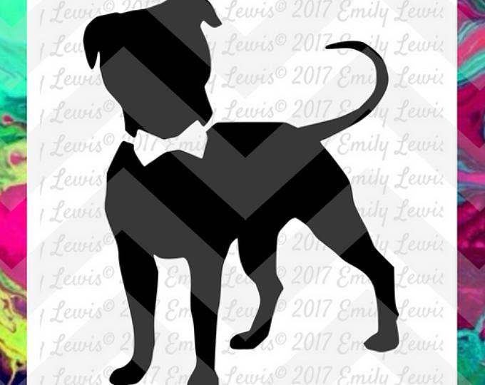 dog svgs - Pit Bull svgs - pit bull svg files - pit bull decals - pit bull with bowtie - dog svg files - pit bull cut files - cricut - cameo