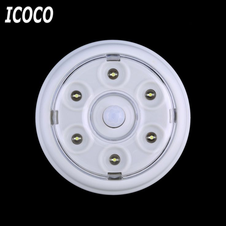 ICOCO Newest High Quality 6 LED Wireless Infrared PIR Auto Sensor Motion Detector Battery Powered Door Wall Light Lamp Hot Sales #Affiliate