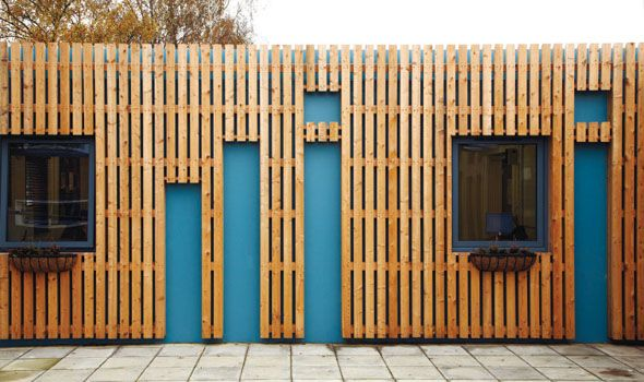 Modular Building Cladding Wood Stone Effect Brick Slips Exterior Pinterest Search
