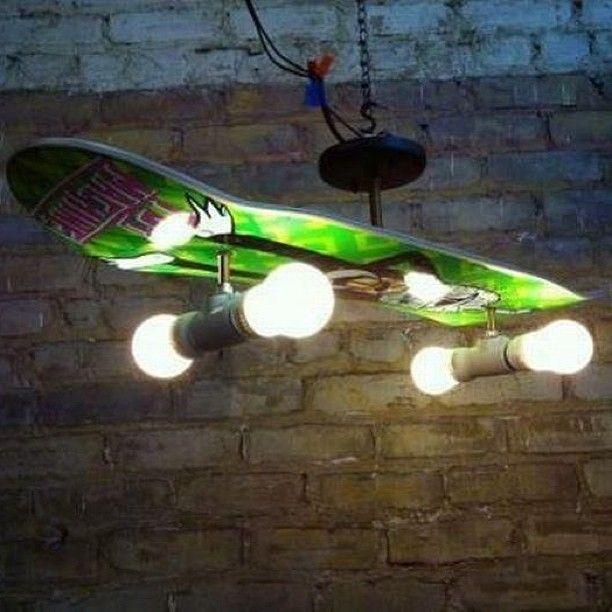 skateboard lamp - cool for a boys room!
