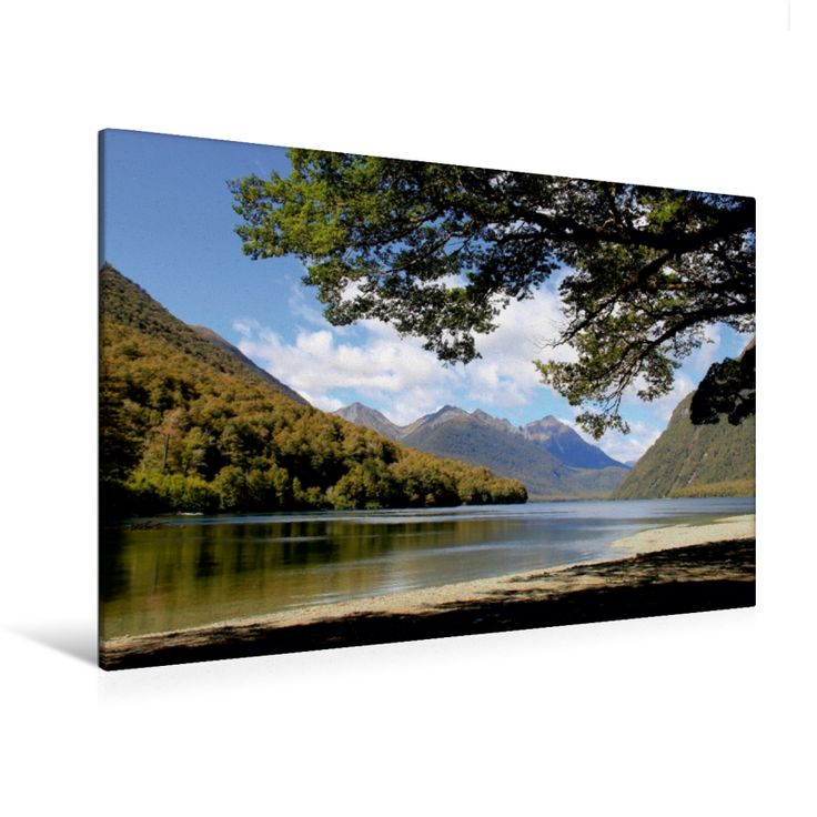 Mirror Lakes (Premium Foto-Leinwand 45x30 cm, 50x75 cm, 90x60 cm, 120x80 cm)