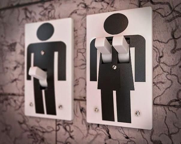Гендерные выключатели / Ванная комната, туалет и зеркала / ВТОРАЯ УЛИЦА