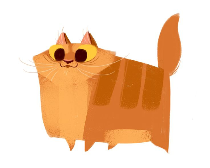 Daily Cat Drawings 395 Orange Tabby Illustration