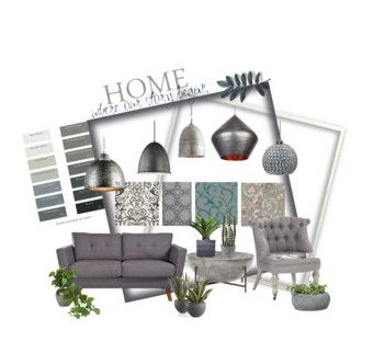 Home in Grey by housebybianca on Polyvore featuring interior, interiors, interior design, thuis, home decor, interior decorating, Versace, Cole & Son, Zentique and Sea Gull Lighting