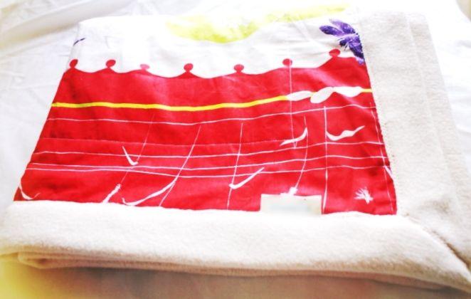 Sherpa Organic Cotton Blanket Pink Water Lily.