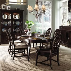 Alston Oval Leg Table Dining Room Set By Kincaid Furniture Carriage House Collection Of Solid Wood