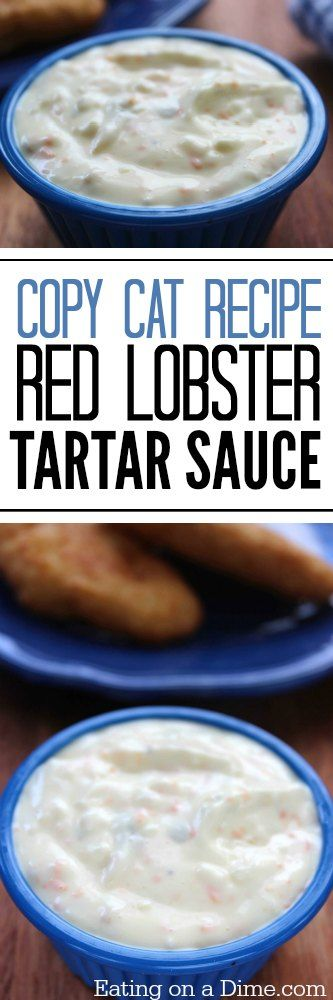 Easy Copy Cat recipe for Red Lobster Tartar Sauce.  I have a fun and super easy copycat recipe for you today – copycat Red Lobster tartar sauce. This recipe only takes 5 ingredients and it tastes just like the real deal.