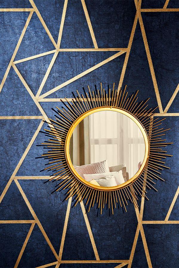 Leroymerlin Leroymerlinpolska Dlabohaterowdomu Domoweinspiracje Tapeta Wzory Lustro Zlotedodatki Merlin Mirror Decor