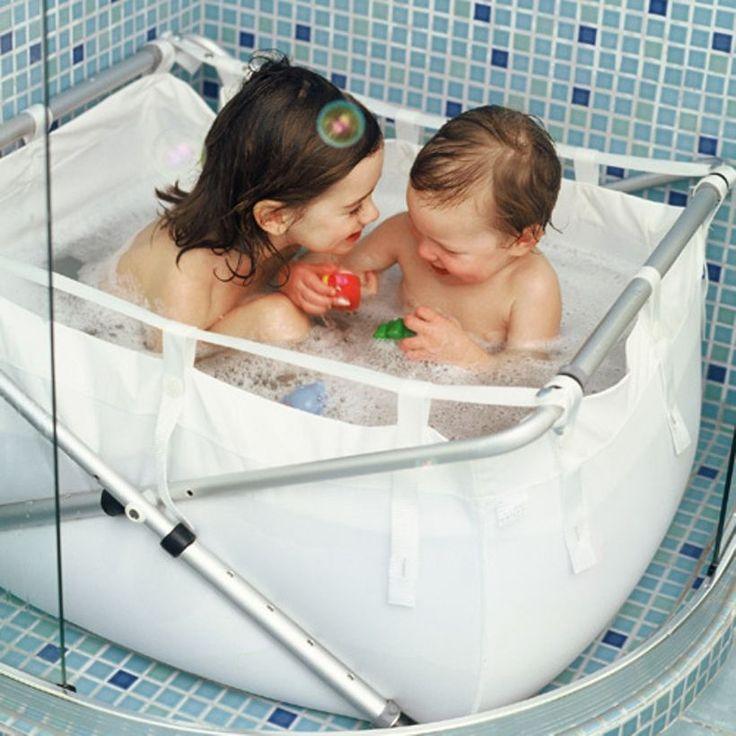 Baignoire enfant pliante pour la douche - blanc