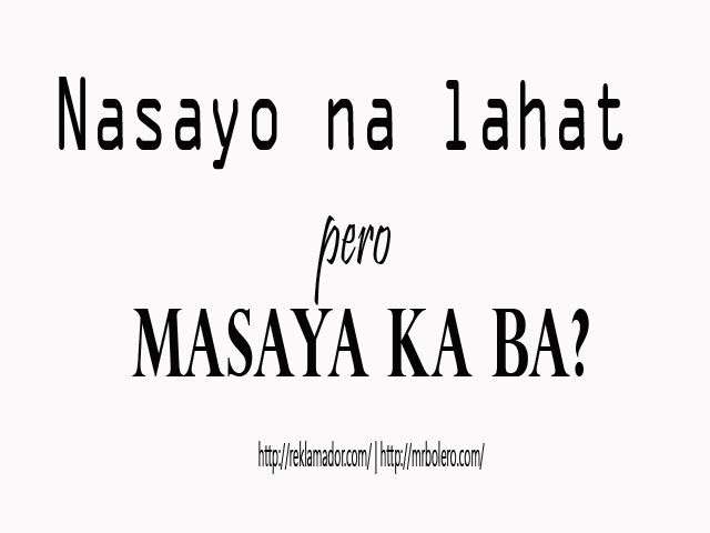 Mga Sa Umaasa Patama Lines Tagalog Hugot