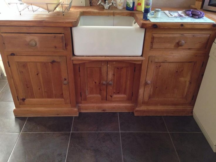 New stock.. So excited to do this amazing freestanding pine Belfast sink unit!
