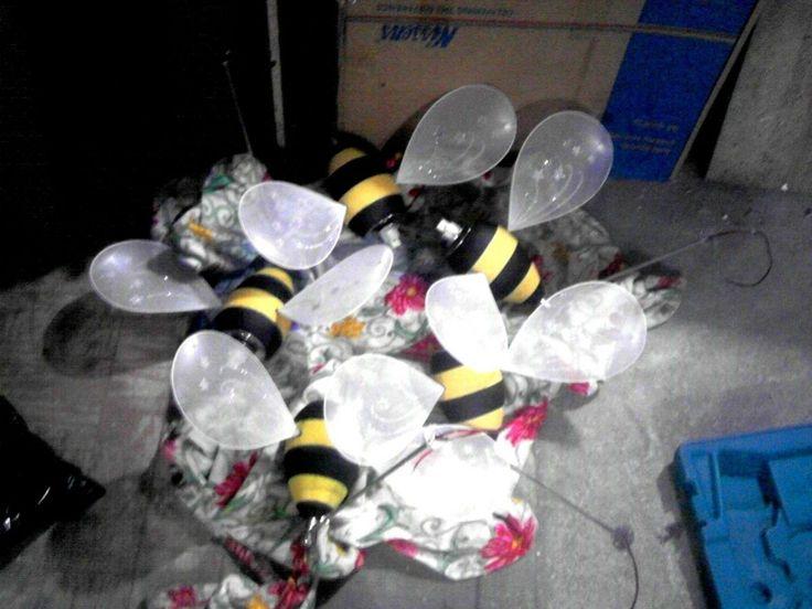 Дизайн интерьера - своими руками, светильники-пчелки 006
